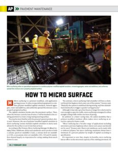 How to Micro Surface Article in February Issue of AsphaltPro